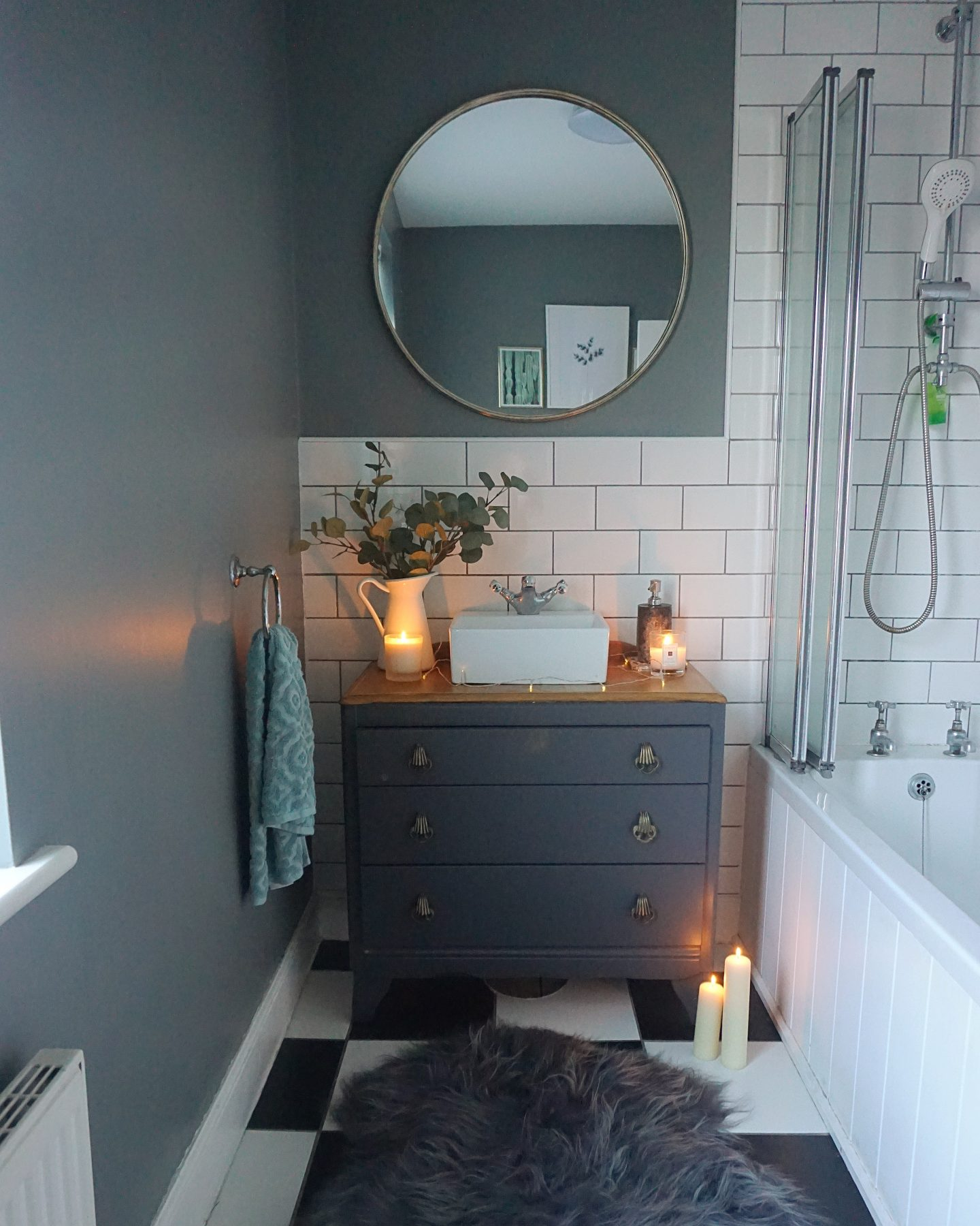 How we transformed a £25 chest of drawers into our dream vanity unit